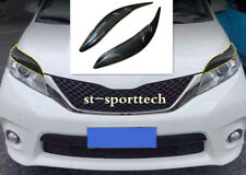 FOR Toyota Sienna 2012-2017 Carbon Fiber Front Headlamps Light Brow Trim 2pcs