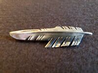 Ray Tracey Knifewing Navajo Sterling Silver Feather Brooch Pin Pendant