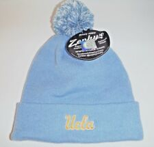 1aa2d7bd85623 UCLA BRUINS NEW AUTHENTIC SCRIPT BEANIE   TOQUE   KNIT HAT WITH POM NCAA  ZEPHYR