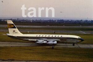 35mm slide aeroplane airplane London  Heathrow  Lufthansa 1960s r197