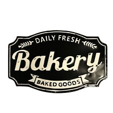 Bakery Baked Goods Sign Agate Porcelain over Tin Fresh Daily Old Fashioned Style