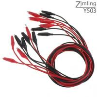 35mm Double-end Alligator Clips Test Lead Jumper Cables Red&Black Wire Durable
