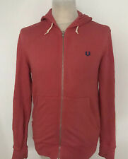 FRED PERRY Track Top Jacket Hooded Zip Up Size Small