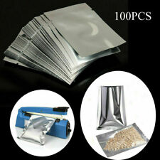 100 6 x 9.5 inch Heat Seal Aluminium Foil Bag Vacuum Sealer Pouches Food Storage