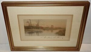 FABULOUS Antique WALLACE NUTTING Signed HAND COLORED PIECE in a WOOD FRAME #2!