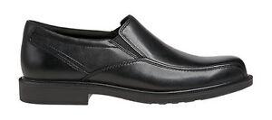 Dunham Jaffrey Black Leather Slip On Dress Shoe US 11.5 D