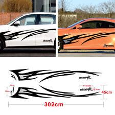 2Pcs/Set Car Flame Side Flames Graphics Graphic Decals Sticker 302cm Universal