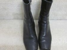 Women's Sudini Black Leather Boots- pre-owned,5 1/2 Medium,very clean,one owner
