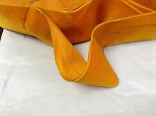 "2 5/8"" HANK Antique/Vintage Silk Rayon Satin Back Velvet Ribbon Autumn Orange"