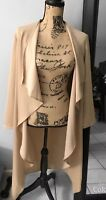 Long Duster Coat Cardigan Tan M