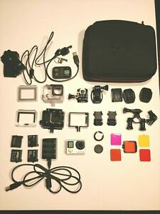 GoPro Hero 4 Black Action Camera + Accessories