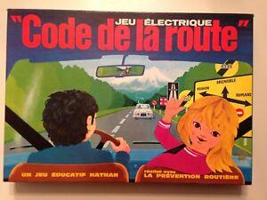 JEU ELECTRIQUE FERNAND NATHAN CODE DE LA ROUTE