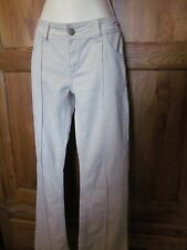 zara cream cotton stretch boot cut trousers 30 x 30