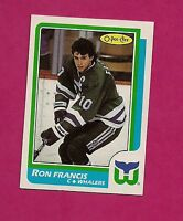 1986-87 OPC # 43 WHALERS RON FRANCIS  NRMT+ CARD (INV# A094)