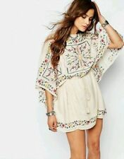 NWT $168 FREE PEOPLE Sz Small S Frida Embroid Boho Tunic Dress Ivory STUNNING!