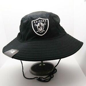 New Era Men's 100% Authentic Bucket Hat one size Las Vegas Raiders black NFL