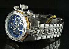 Invicta Men's 50mm Bolt Chronograph BLUE DIAL Silver Tone Stainless Steel Watch