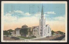 Postcard TULSA Oklahoma/OK  1st First Presbyterian Church w/Tall Steeple 1910's