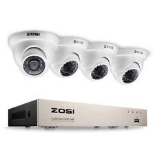 ZOSI Home CCTV Camera System 8 Channel 1080P Lite Surveillance DVR kit and 4x128