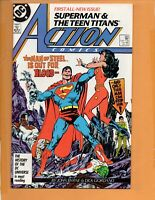 SUPERMAN IN ACTION COMICS # 584 1st Carol Samuels !! HIGH GRADE  NM to NM+