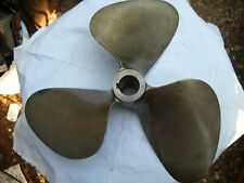 boat propeller 3 bladed bronze .95 on and .810 small end