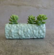 Vintage Diana Pottery Small Trough Vase or Small Planter Pastel Green 14.6cm