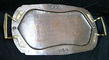 Beau plateau (tray,tablett),cuivre,laiton,art nouveau,jugendstil,1900