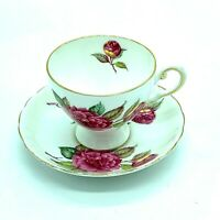 Vintage Royal Tuscan Fine Bone China Camellia Made in England Cup and Saucer