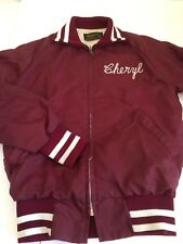 Vintage Varisty Pom Pom Swingster Cheer Jacket Embroidered Cheryl Grandville XS