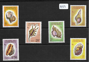 SMT, COMORES, Conches and Shells definitives set of 6, MNH