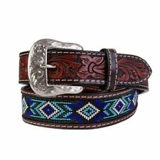 TWISTED X BEADED INDIAN BLUE TURQUOISE - ACCESSORIES BELT KIDS - XIBB101K