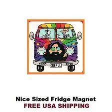 216 -  Nice Grateful Dead Jerry Garcia VW Bus Refrigerator Fridge Magnet