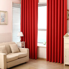NEW Washable 100% Blockout Curtains Eyelet Pure Fabric Blackout Room Darkening