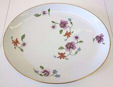 """Vintage RARE 15"""" X 12.25"""" Royal Worcester Astley Flower Gold Rim Serving Platter"""