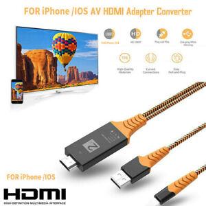 8PIN auf HDMI Kabel HD TV Adapter Lead 2m für iPhone 11 Pro XR XS Max 8 7 6