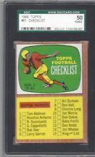 1966 Topps football card #61 Checklist Boston Patriots graded SGC 50 VGEX 4