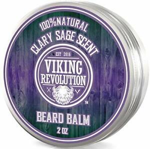 Beard Balm with Clary Sage Scent and Argan & Jojoba Oils - Styles,...