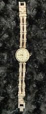 ecclisse watch sterling silver case bamboo design QVC clasp close