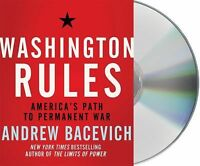 BOOK/AUDIOBOOK CD Andrew Bacevich Current Events War WASHINGTON RULES