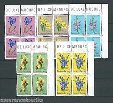 LUXEMBOURG FLEURS - 1976 YT 886 à 890 - BLOCS DE 4 - TIMBRES NEUFS** LUXE