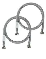 Stainless Steel Washing Machine 4' Set Inlet Fill Hoses with Washers Certified