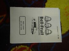bell fruit reel cash fruit machine technical awp manual treble top