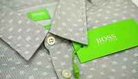 NWT $145 Hugo Boss Gray Shirt LS Mens M L XL C-Bustai 50330837 036 Regular Fit
