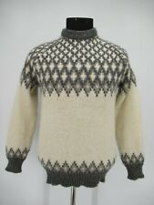 M8650 VTG Highland Craft 100% Wool Nordic Pullover Sweater Size 40-102CM