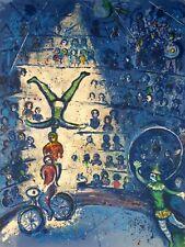 Marc Chagall, Le Cirque Les cyclistes 1962-1967, Hand Signed Lithograph