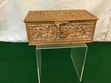 Antique Bronze Grand Tour Trinket Box, Signed