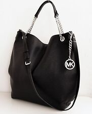 Michael Kors Tasche/Bag Jet Set Chain Item LG Shoulder Tote Black/Silver NEU!