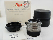Leica Summilux-M 35mm f1.4 Titanium + BOX Soft Case 11860 + HOOD Paraluce *READ*
