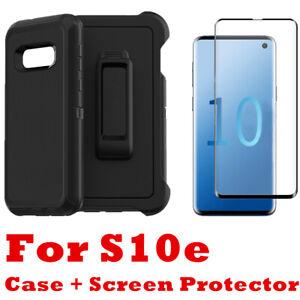 Samsung Galaxy S10e Case W/Screen Protector & Belt Clip Fits Otterbox Defender