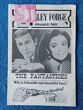The Fantasticks- Valley Forge Playbill w/Ticket - August 17th, 1968 - Keel